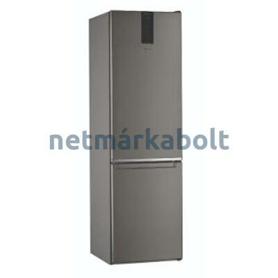 WHIRLPOOL W9 931D IX Alulfagyasztós hűtőszekrény